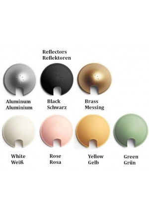 Luceplan Berenice Spare reflectors in red, green, blue and aluminum