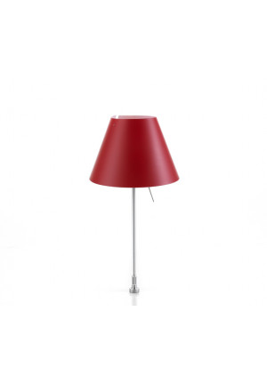 Luceplan Costanzina Table fixing pin red frame alu