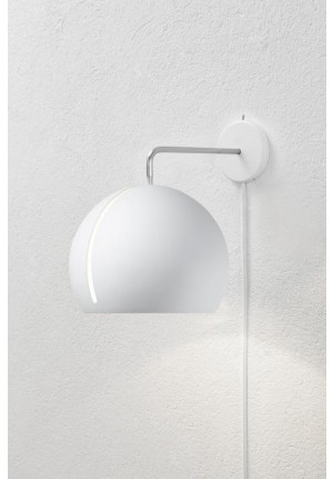 Nyta Tilt Globe Wall white with cable white