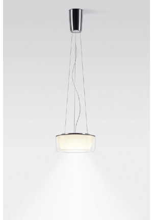 Serien Lighting Curling Suspension Rope Acryl clear / conical opal M