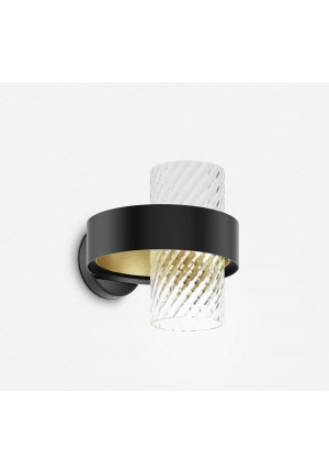 Vistosi Armonia AP 25 Version 1, diffuser crystal, body black-brass