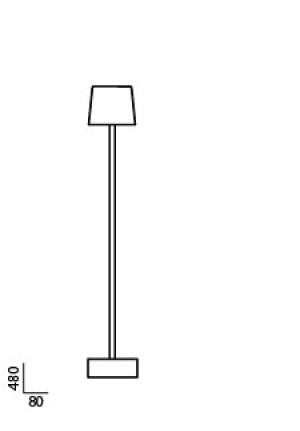 Anta Cut Table lamp aluminum spare part