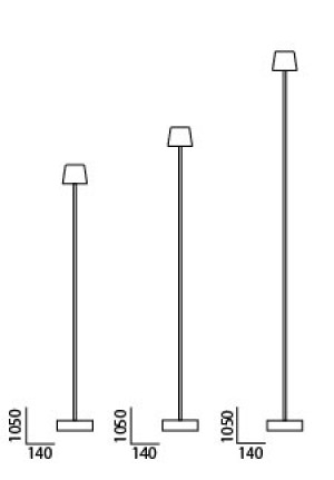 Anta Cut floor lamp black spare part