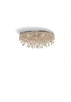 Anthologie Quartett Crystal Rain Ceiling Lamp oval round 120 cm