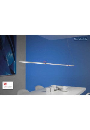Escale Slimline pendant lamp 150 vario with red clips