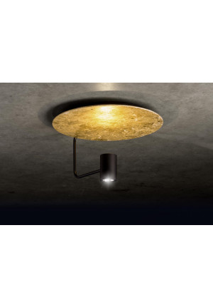 Holtkötter Disc reflector gold leaf, head black