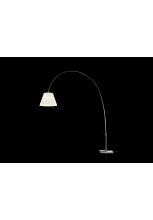 Luceplan Lady Costanza Floor Dimmer shade black frame black
