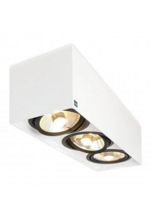 Mawa 111er square 3-lamps low-voltage white