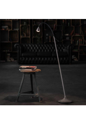 Less'n'more Athene Concrete Floor Light Grey A-BSL aluminum, flex arm textile anthracite