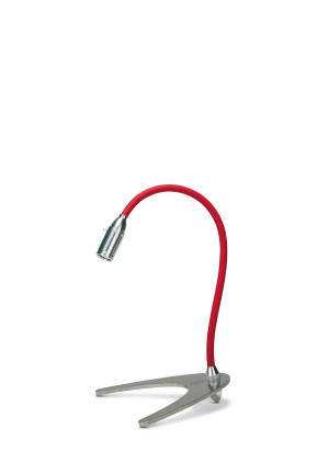 Less'n'more Zeus Table Light flexible arm red