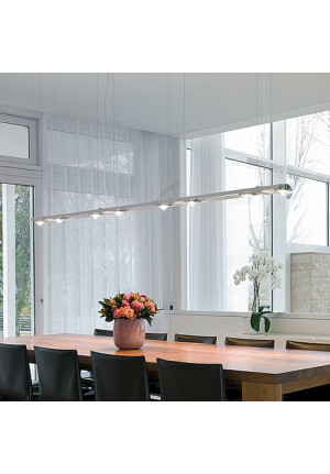 Licht im Raum Ocular 8 Low Voltage brushed stainless steel