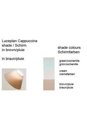 Luceplan Cappuccina Table shade colours