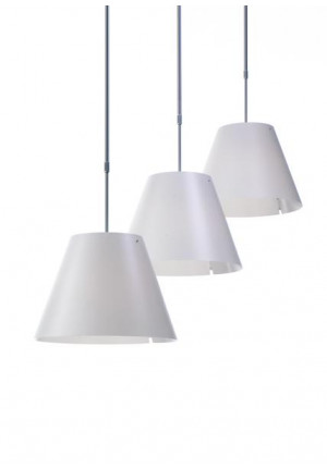 Luceplan Costanza Supension Telescopic white