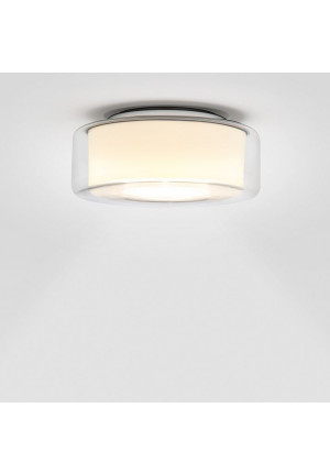 Serien Lighting Curling Ceiling clear/ cylindrical opal