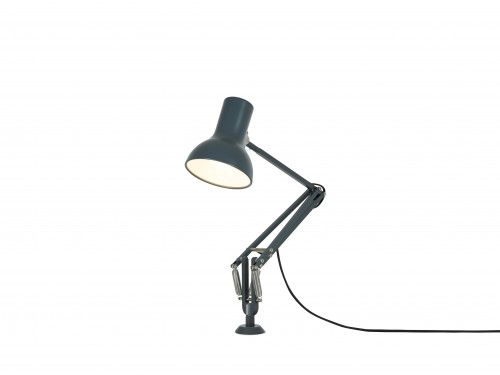 Anglepoise Type 75 Mini Lamp with Desk Insert grey