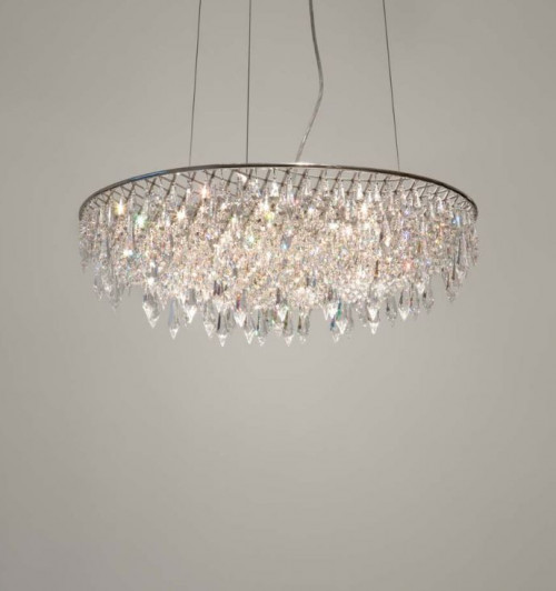 Anthologie Quartett Crystal Rain Pendant Lamp Oval Pendant