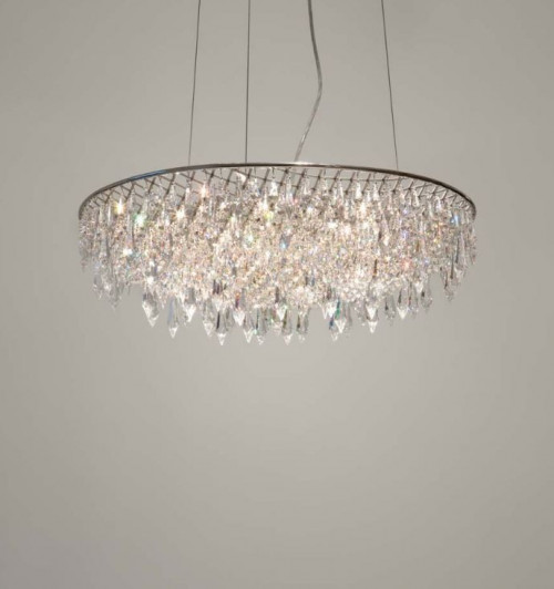 Anthologie Quartett Crystal Rain Pending Lamp round diameter 120 cm