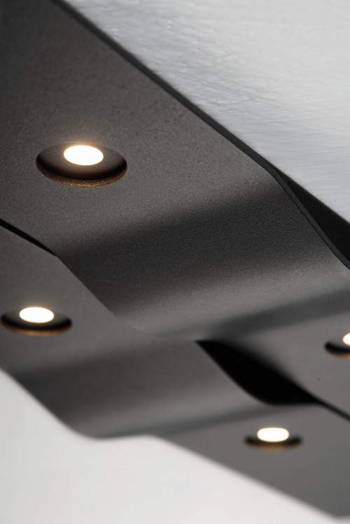Bopp Wave rectangular 6-lights antharcite details