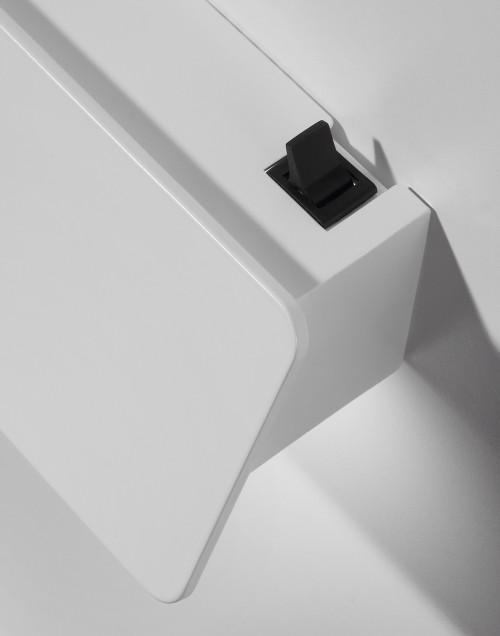 Bover Alba 90 white with optional on-off switch