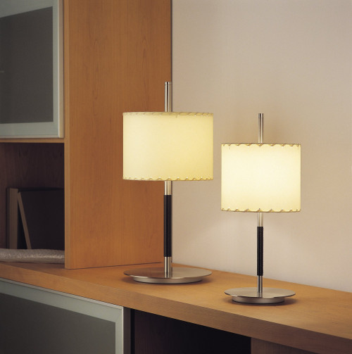 Bover Danona T shade creme, nickel with leather (at the left)
