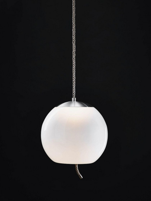 Brokis Knot Sfera opal, reflector stainless steel