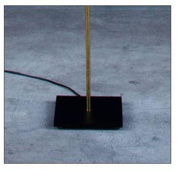 Colour example: black canopy, brass rod