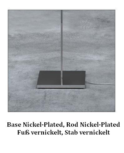 Catellani & Smith Post Krisi F 64 base nickel-plated, rod nickel-plated (only on request)