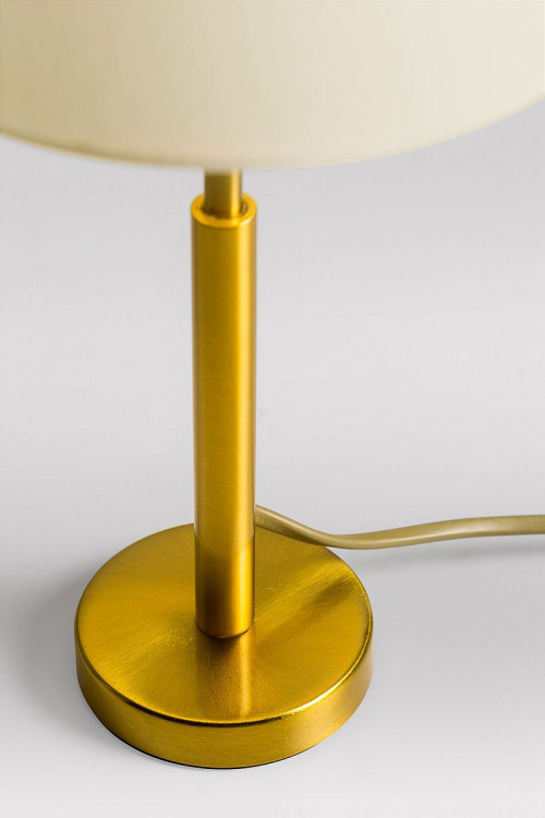 Lupia Licht Garde S lamp rod brass antique lampshade champagne