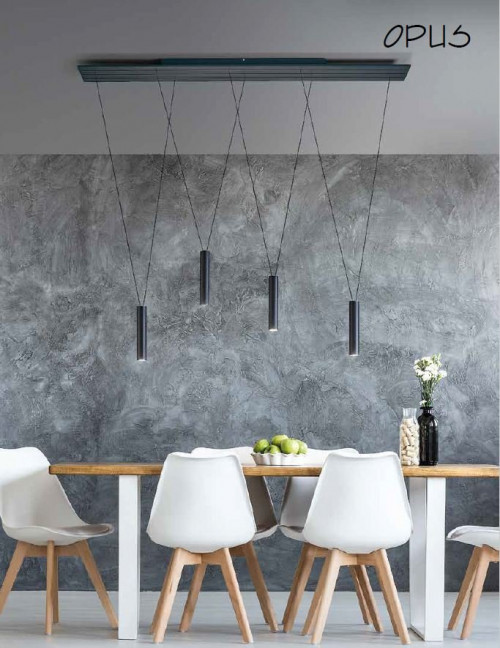 Escale Opus with four lamps black