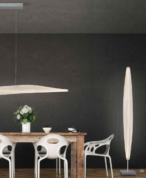 Escale Stratos pendant lamp (at the left)