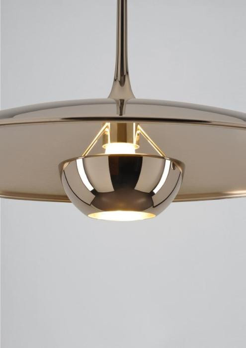 Florian Schulz Onos 40 Straight Pull Ceiling Mounted shade brass polished lacquered