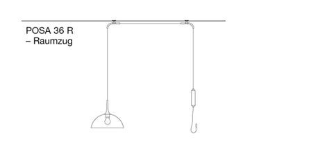 Florian Schulz Posa 36 Straight Pull Ceiling Mounted graphic
