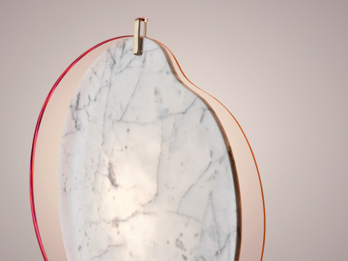 Foscarini Gioia pink with marble element