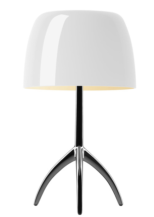 Foscarini Lumiere 05 Piccola warm white frame chrome black off switched