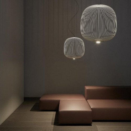 Foscarini Spokes 2 Midi white (at the left)