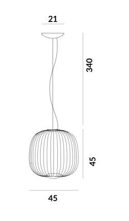 Foscarini Spokes 2 Midi MyLight graphic