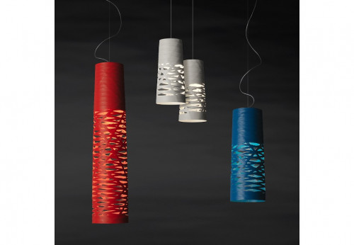 Foscarini Tress Media red, Mini grey and Piccola indigo