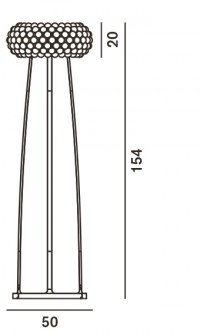 Foscarini Caboche Terra Media floor lamp spare part