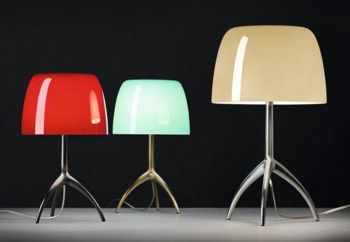 Foscarini Lumiere 05 Piccola cherry, turqouise and Grande warm white