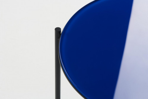 Grupa Igram Lamp and Table, table top glass blue (only on request)