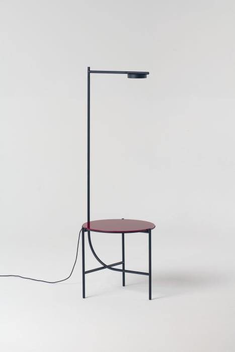 Grupa Igram Lamp and Table glass red