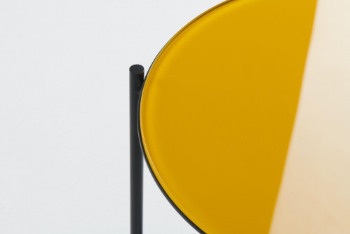Grupa Igram Lamp and Table, table top glass yellow (only on request)