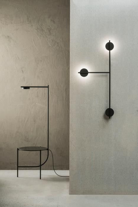 Grupa Igram Lamp and Table (at the left)