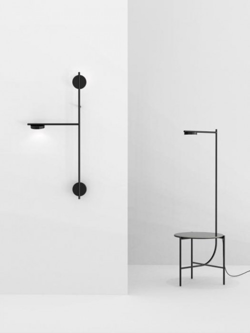 Grupa Igram Lamp and Table (at the right)