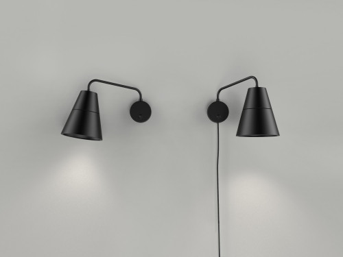 Grupa Ili Ili Wall Lamp black without and with supply cable