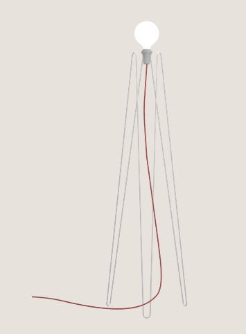 Grupa Model 2 white, cable colour red
