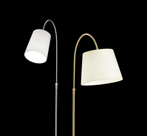 Holtkötter Boyleuchte 26cm brass, shade champagne (at the right)