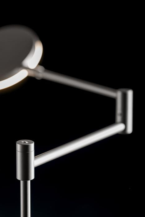 Holtkötter Plano B lamp head, arm and rod platinum