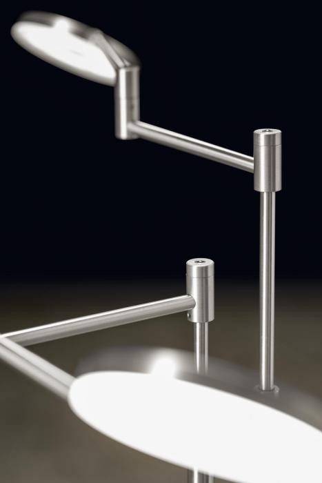 Holtkötter Plano Twin lamp arms with heads aluminum