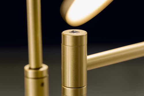 Holtkötter Plano Twin push button dimmer at the lamp rod brass